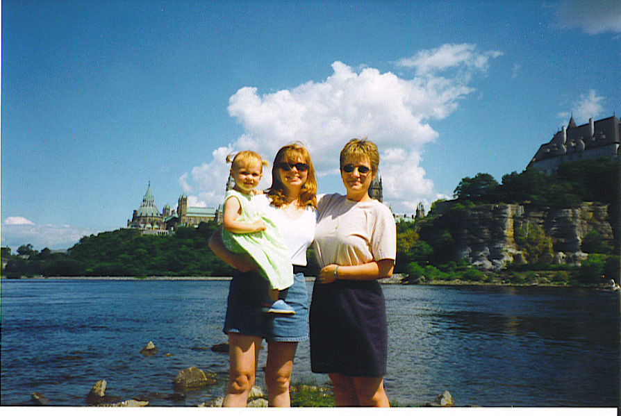 Michelle Sue and Emily in Ottawa 1999